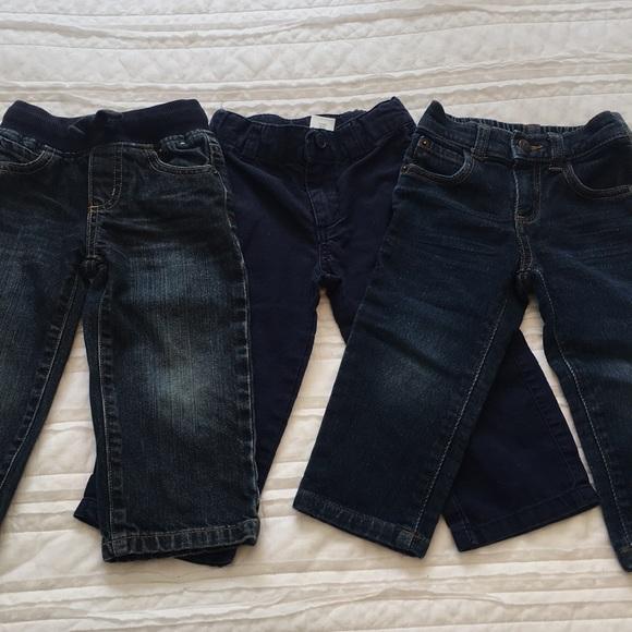 Baby & Toddler Clothing Gymboree Boys Size 3t Navy Blue 55% Linen Dress Pants Adjustable Waist